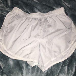 All white nike shorts